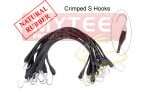 Natural Rubber Tarp Bungee Straps w/ Crimped Hooks - 50 Pack