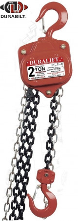 Durabilit Chain Hoist 0.5 Ton Capacity 15 Ft Standard Lift G80 Chain