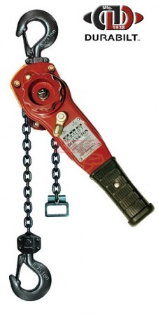 Durabilt Lever Hoists 1.5 Ton Rated Capacity 5ft Standard Lift