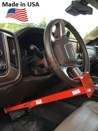"Wheel to Pedal Lock - Adjusts from 28"" - 33"" From Wheel to Brake Pedal"