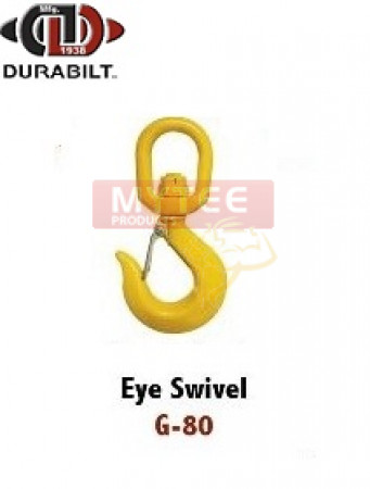 Durabilt G80 Eye Swivel Hook (w/Latch), 1/2""