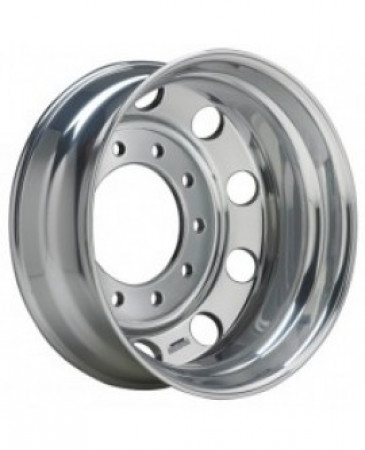 22.5 x 8.25 10 HOLE Accuride Aluminum Polished Hub Pilot Wheel