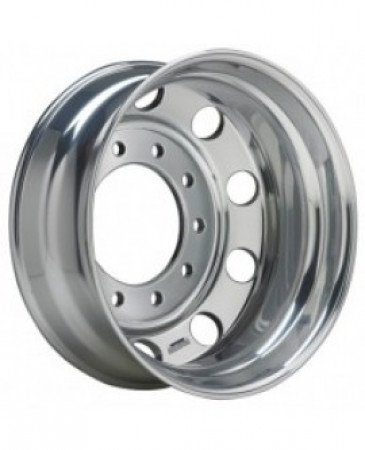 24.5 x 8.25 10 HOLE Accuride Aluminum Machine Finish Hub Pilot Wheel