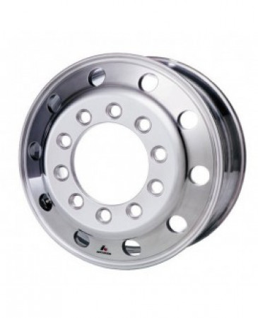24.5 x 8.25 10 HOLE Accuride Aluminum Polished Rear Stud Pilot Wheel