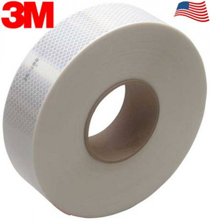 "3M Diamond Rigid Conspicuity Tape White Color 983-10 2"" x 150'"