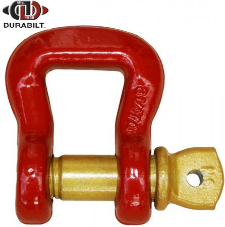 Web Shackle Made with Forged Alloy Steel & Alloy Screw Pin 3.25T WLL