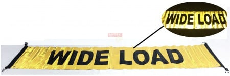 Reflective Wide Load / Oversize Load Sign w/ Bungees & Grommet