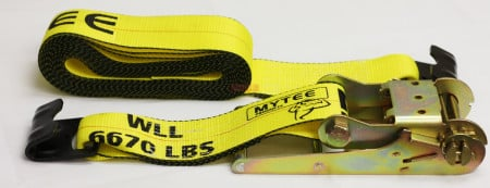 "4"" x 30' Ratchet Straps W/Flat Hook eXtreme, 6,670 Lbs WLL"