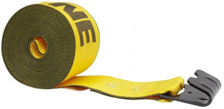 """Kinedyne 4"""" x 30' Winch Strap with Flat Hook - Gold"""