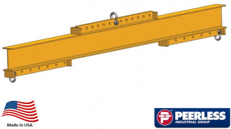 Universal Lifting / Spreader Beam  5 Ton Capacity,  8 Ft Maxium Spread