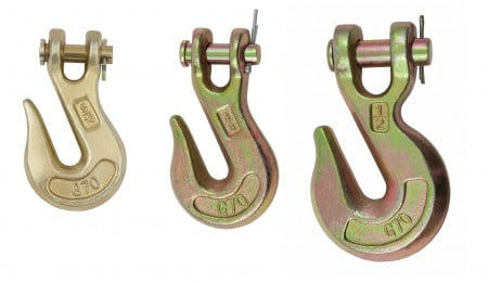 Grade 70 Clevis Grab Hooks with Pins