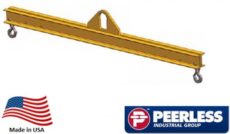 Standard Duty Lifting Beam 2 Ton Capacity, 12 Ft Outside Spread