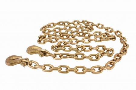 "3/8"" X 20' G70 Chain with grab hooks, WLL 6,600 lbs"