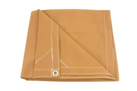 8' x 10' Canvas Tarp - Tan