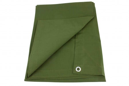 10' x 16' Canvas Tarp - Green