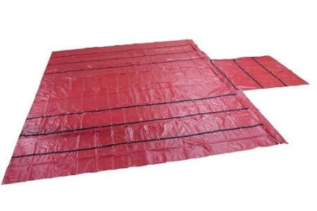 Lightweight 18oz/14oz Lumber Tarp 24x27 (8' Drop) - Red