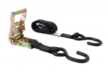 "1"" x 6' Ratchet Straps with S-Hook Motorcycle Tie Down"