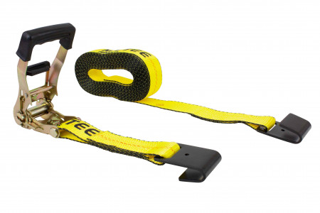 "2"" x 30' Ratchet Strap with Flat Hook, 4000 lbs WLL"