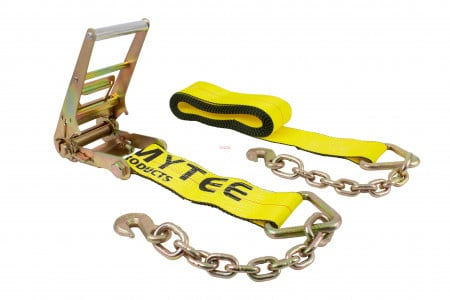 4 in. x 30 ft. Ratchet Strap with Chain Anchor