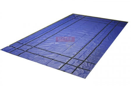 Heavy Duty 18oz Steel Tarp 16' x 27' - Blue
