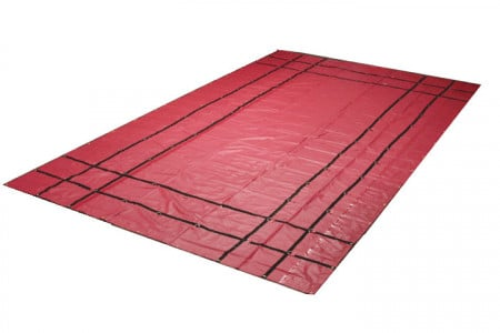 Heavy Duty 18oz Steel Tarp 16' x 24' - Red