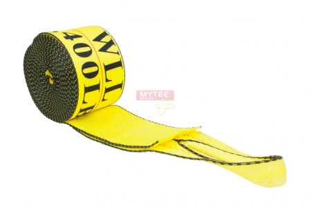 "4"" x 30' Winch Strap with Sewn Loop - Yellow"
