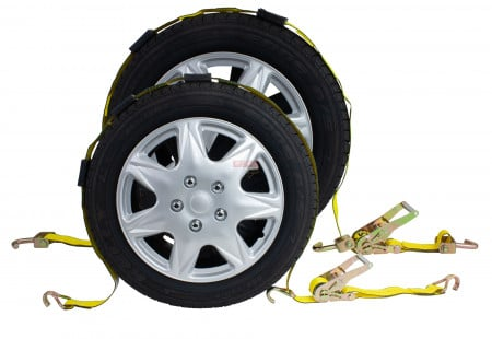 Ratchet Tire Strap w/ 3 Wire J Hooks or w/ Swivel Hooks