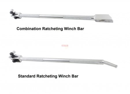 Ratcheting Winch Bar, Chrome