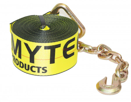 3 in. x 30 ft. Winch Strap with Chain Anchor