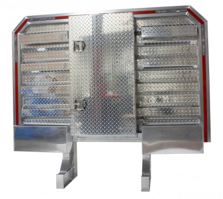 "Viking Cab Rack w/mini vault, 2 chain hangers, tray ( 68"" x 80"" )"