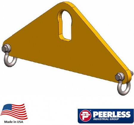 Short Span Lifting Beam 3 Ton Capacity, 2 Ft Outside Spread