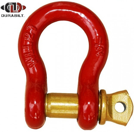 Anchor or Bow Type Shackle Made with Forged Carbon Steel & Alloy Screw Pin 1T WLL