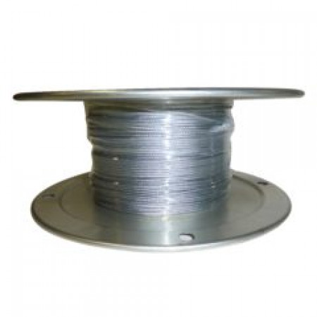 "Galvanized Aircraft Cable Wire Rope 1/8"" x 500' 7x7"
