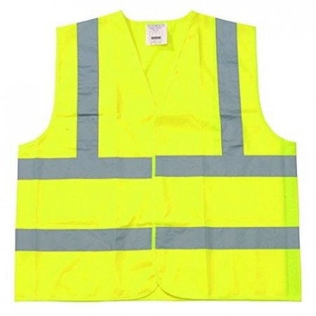 Safety Vest Class 2 Fluorescent Yellow w/ Silver Tape - 2XL