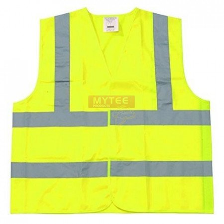 Safety Vest Class 2 Fluorescent Yellow w/ Silver Tape